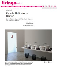 Living Interior - Cersaie 2014 focus sanitari